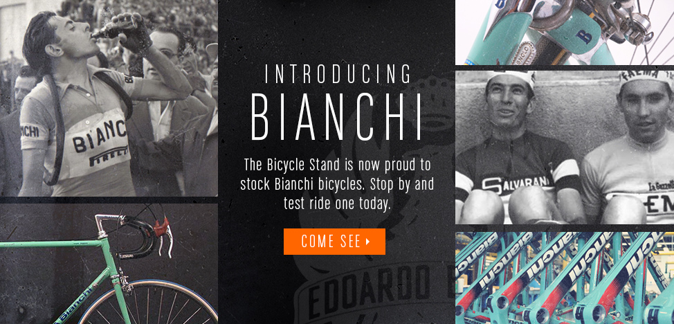 Proud to Now Stock Bianchi Bicycles!